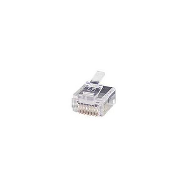 Super Flat CAT5e CAT6 RJ45 Plug Connector Terminate Wiring Bulk Strip