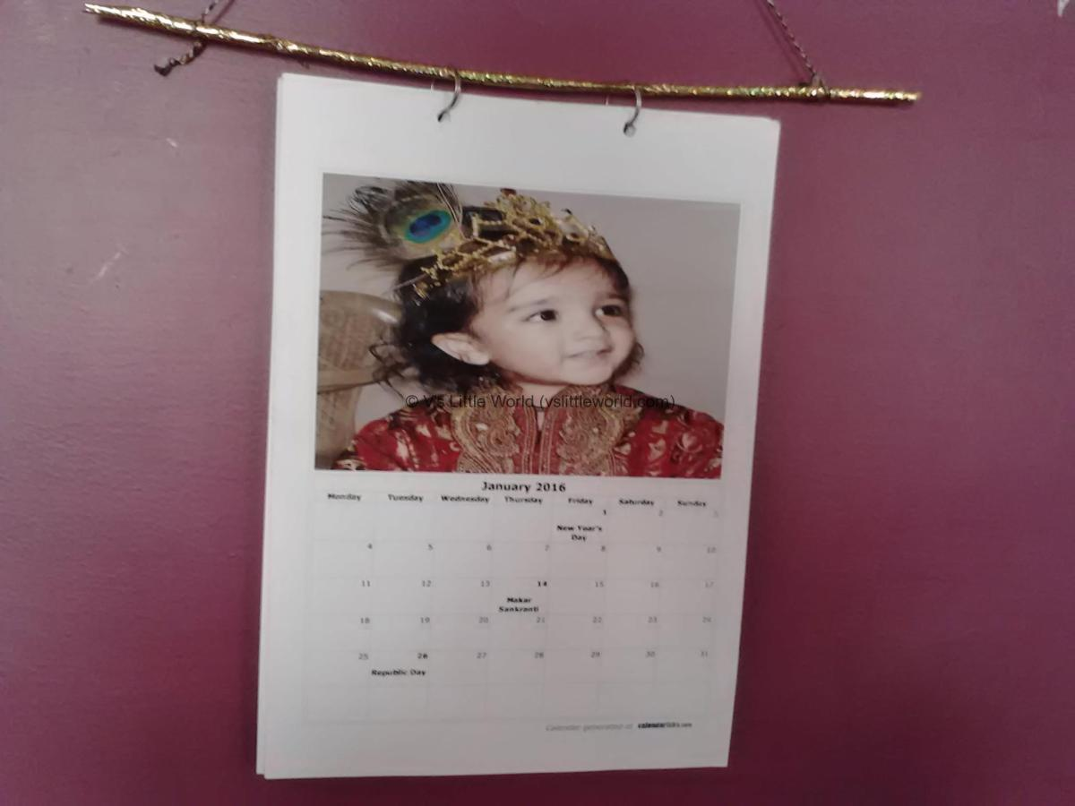 How to make homemade New Year Photo Calendar