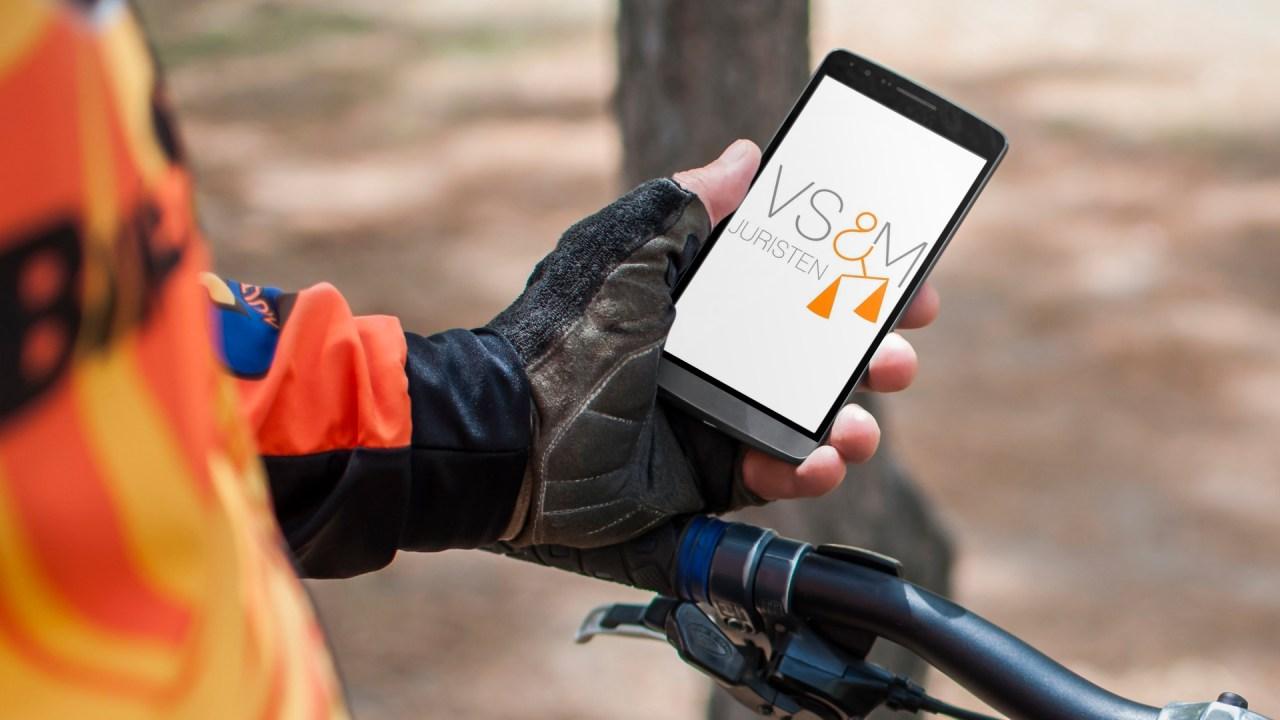 placeit mobiel op fiets