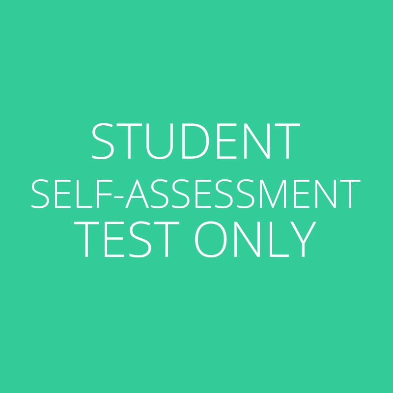 Student Self-Assessment Test Only \u2013 VSRT - student self assessment