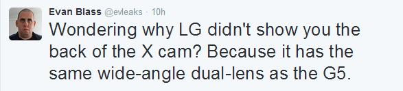 Evleaks on LG G5 Camera