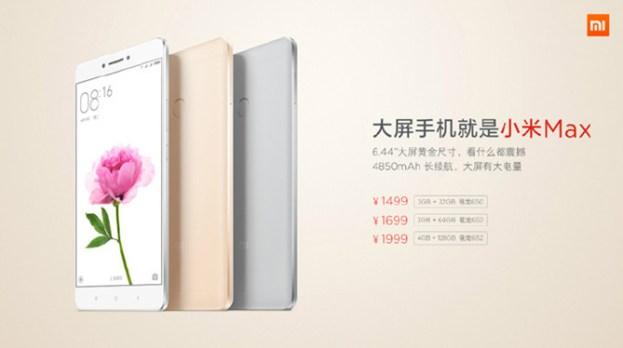 XiaoMi Max Spec_Price