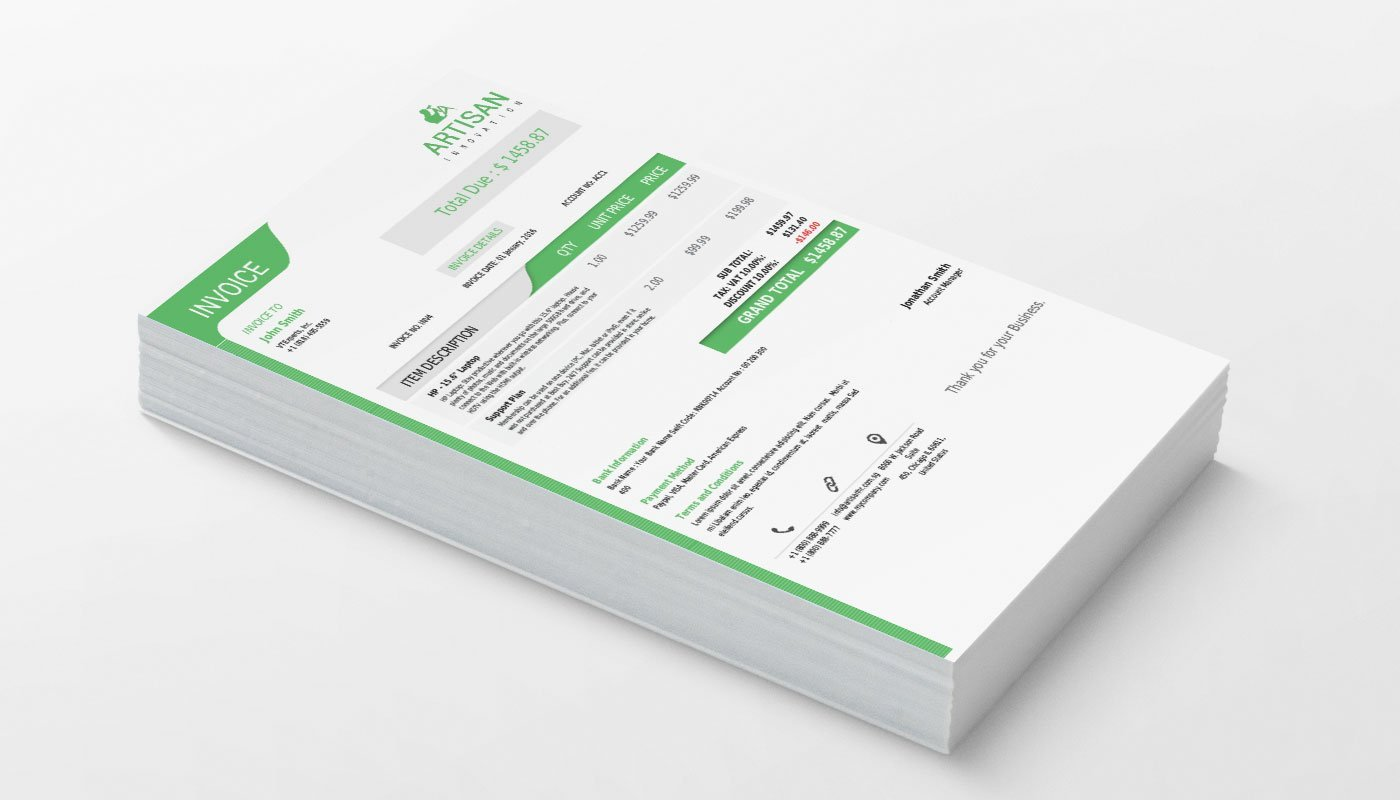 invoice template vtiger – notators, Invoice examples