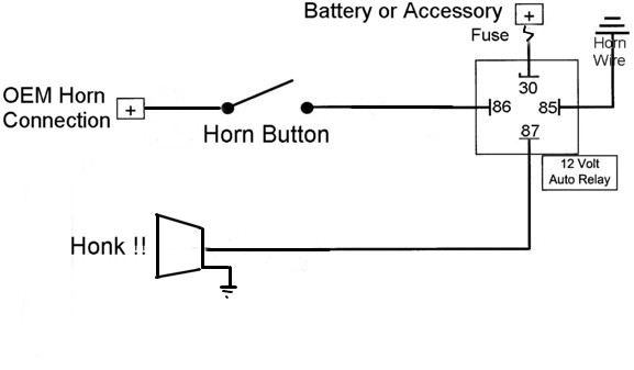 horn relay connection diagram