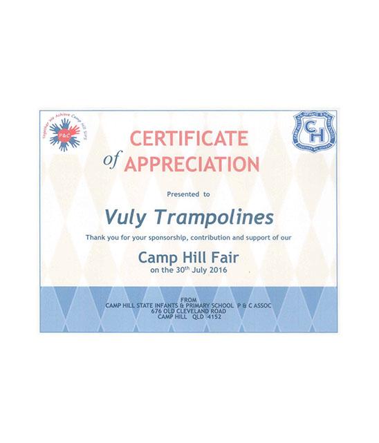sponsorship appreciation certificate - Towerssconstruction