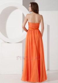 Sun Orange Chiffon Designer Bridesmaid Dresses 2014