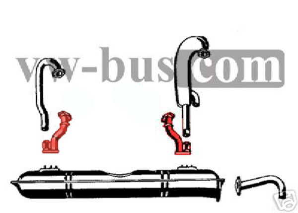 Groovy Vw Bus T3 1 9L Wbx Rh Lh Exhaust Pipe Short Auto Electrical Wiring Wiring Digital Resources Cettecompassionincorg