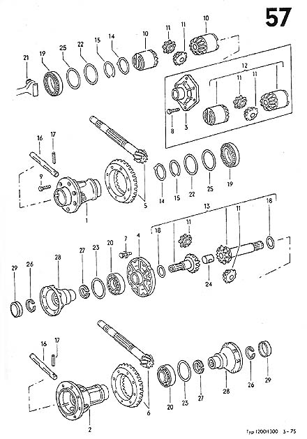 standard 5 speed 02j diagrams