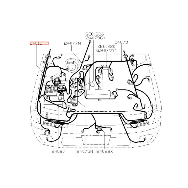 1996 nissan 200sx Schema moteur