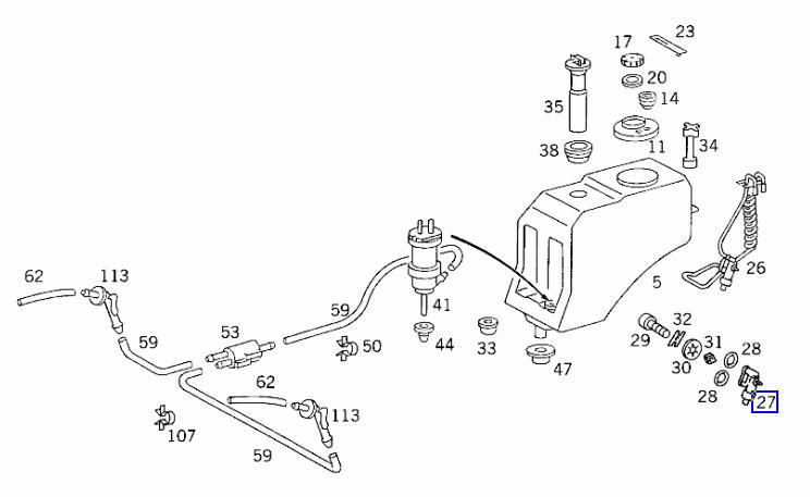 diagram of 1997 mercedes e420 engine
