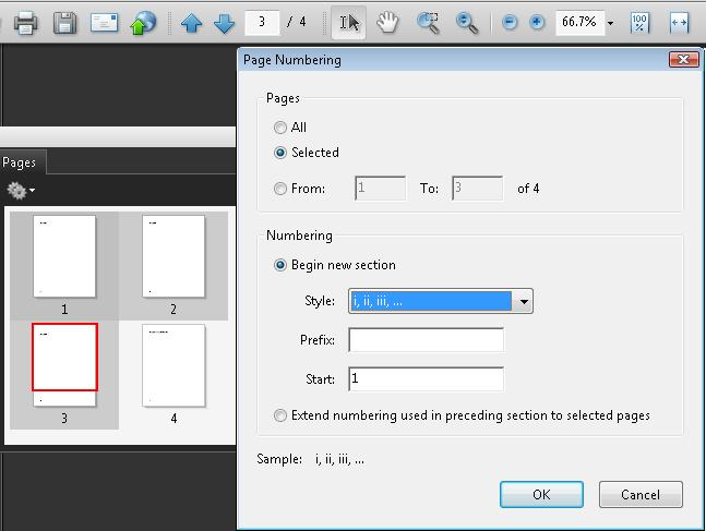 PDF17 Specifying consistent page numbering for PDF documents
