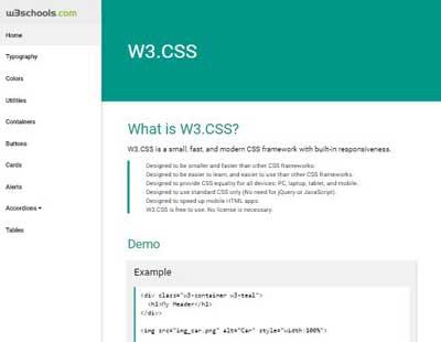 W3CSS Demos