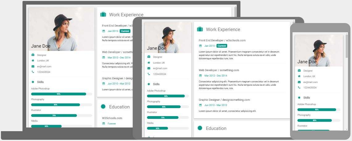 modify a html template for cv