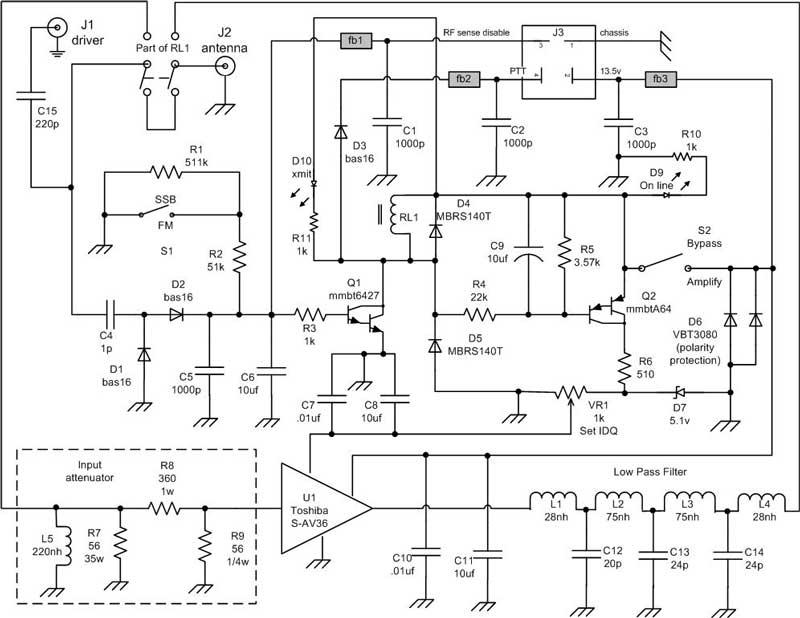 amp wiring schematic