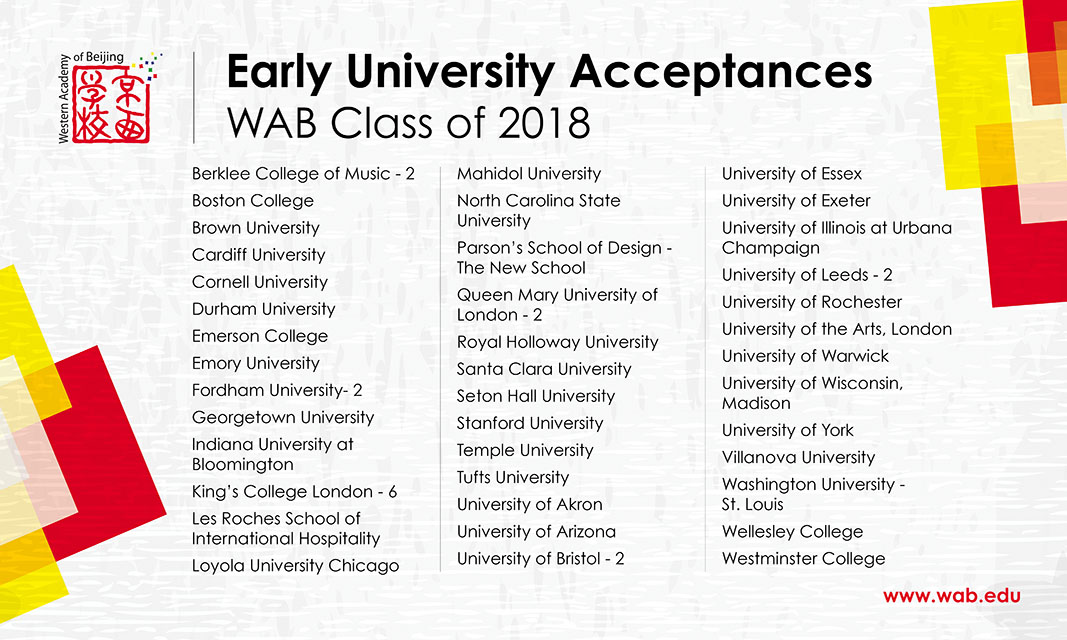 Class of 2018 Receives Early Acceptances to Top Universities News