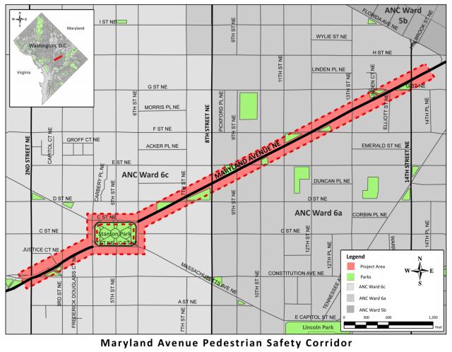 Maryland Ave NE Project Area