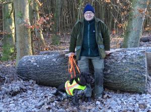 Norbert Quirmbach mit Wachtelhund
