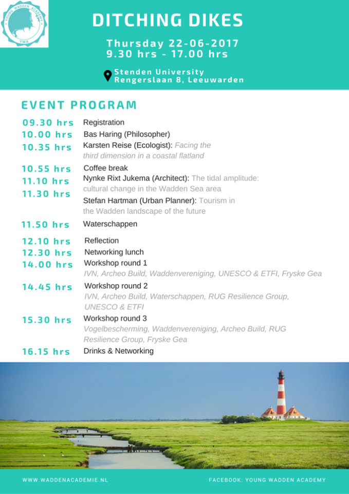 Waddenacademie Ditch the dikes registration - event program
