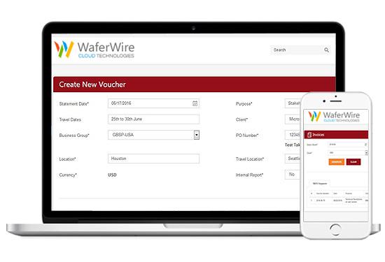 Expense Voucher Process (EVP) Software WaferWire - creating a voucher