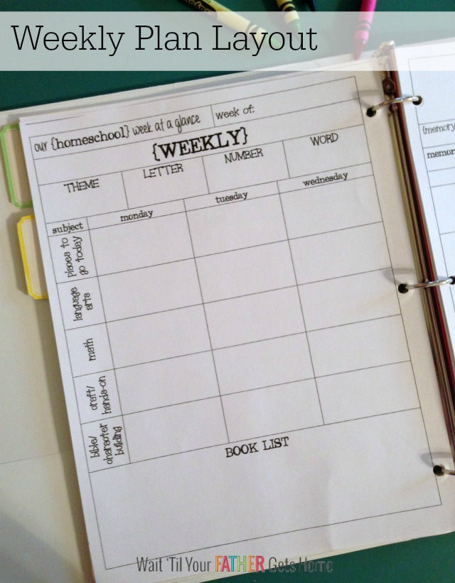 Homeschool Lesson Plan Book Plus Free Printable Plan Pages - Wait