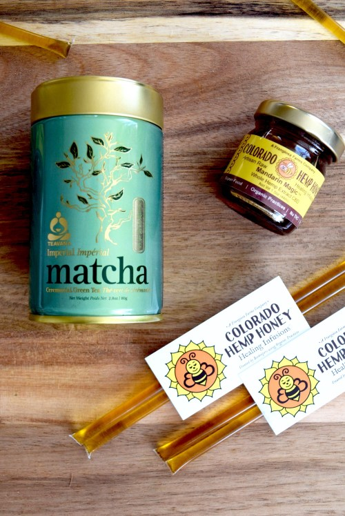 teavana matcha and colorado hemp honey