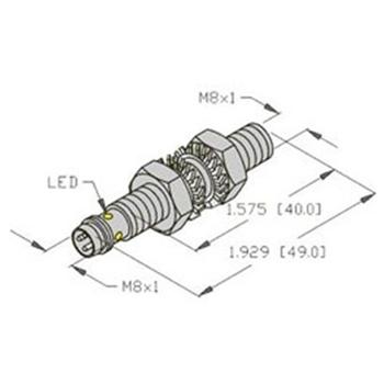 BI2-EG08-VP6X-H1341 -Turck 8mm Barrel Sensor, Embeddable, Eurofast