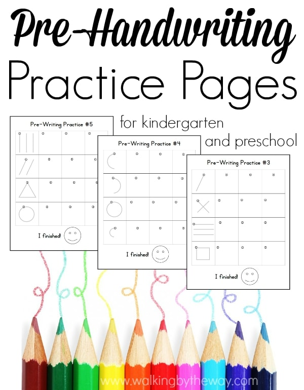 Pre-writing Pages for Preschool and Kindergarten - Walking by the Way