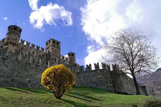 One of the prettiest castles in Italy in the Valle d'Aosta