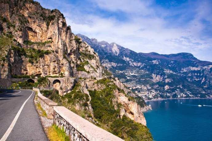 The Amalfi coast, gorgeous even in the off season