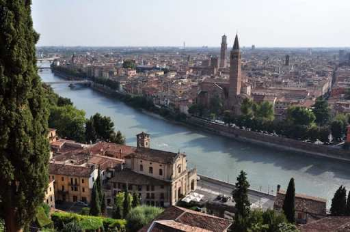 Verona, with it's beautiful Adige river, is one of the most beautiful cities italy.
