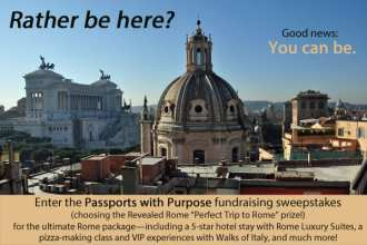 Walks of Italy and Revealed Rome prize for Passports with Purpose