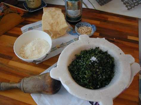 The ingredients you need for pesto alla genovese