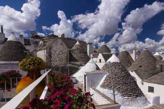 Alberobello is one of Puglia's most impressive ancient towns showcasing the region's traditional 'trulli' houses.