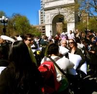 NYC Pillow Fight 2012 - Walks of New York