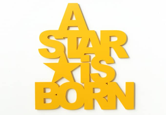 3d A Star Is Born 3d Letter