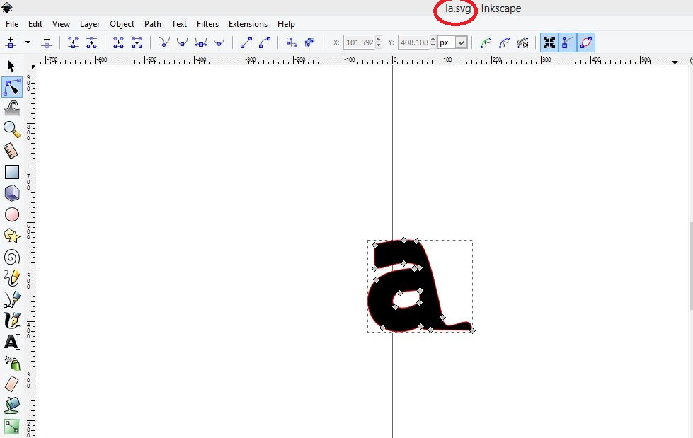 Font design in inkscape - own font pack