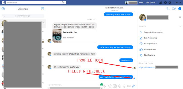 facebook read message
