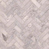 Buy Silver Travertine Herringbone Pattern Honed