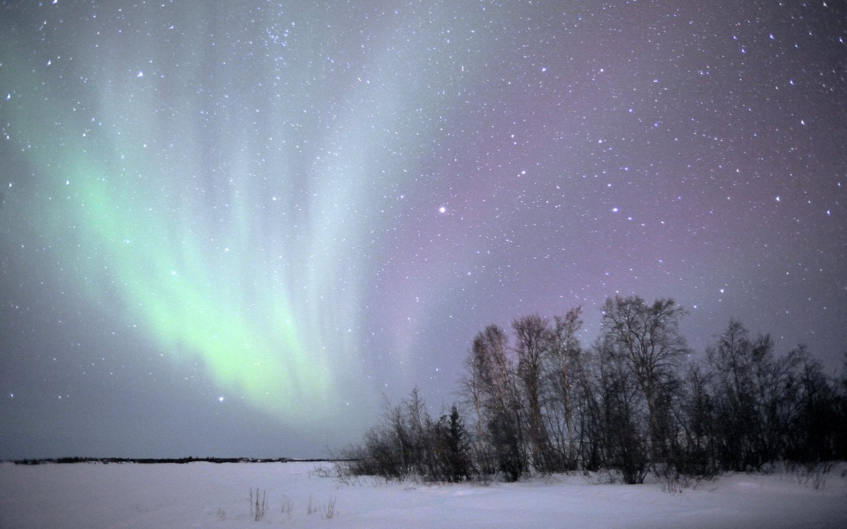 3d Japanese Wallpaper Aurora Borealis Northwest Territories Canada Winter Snow