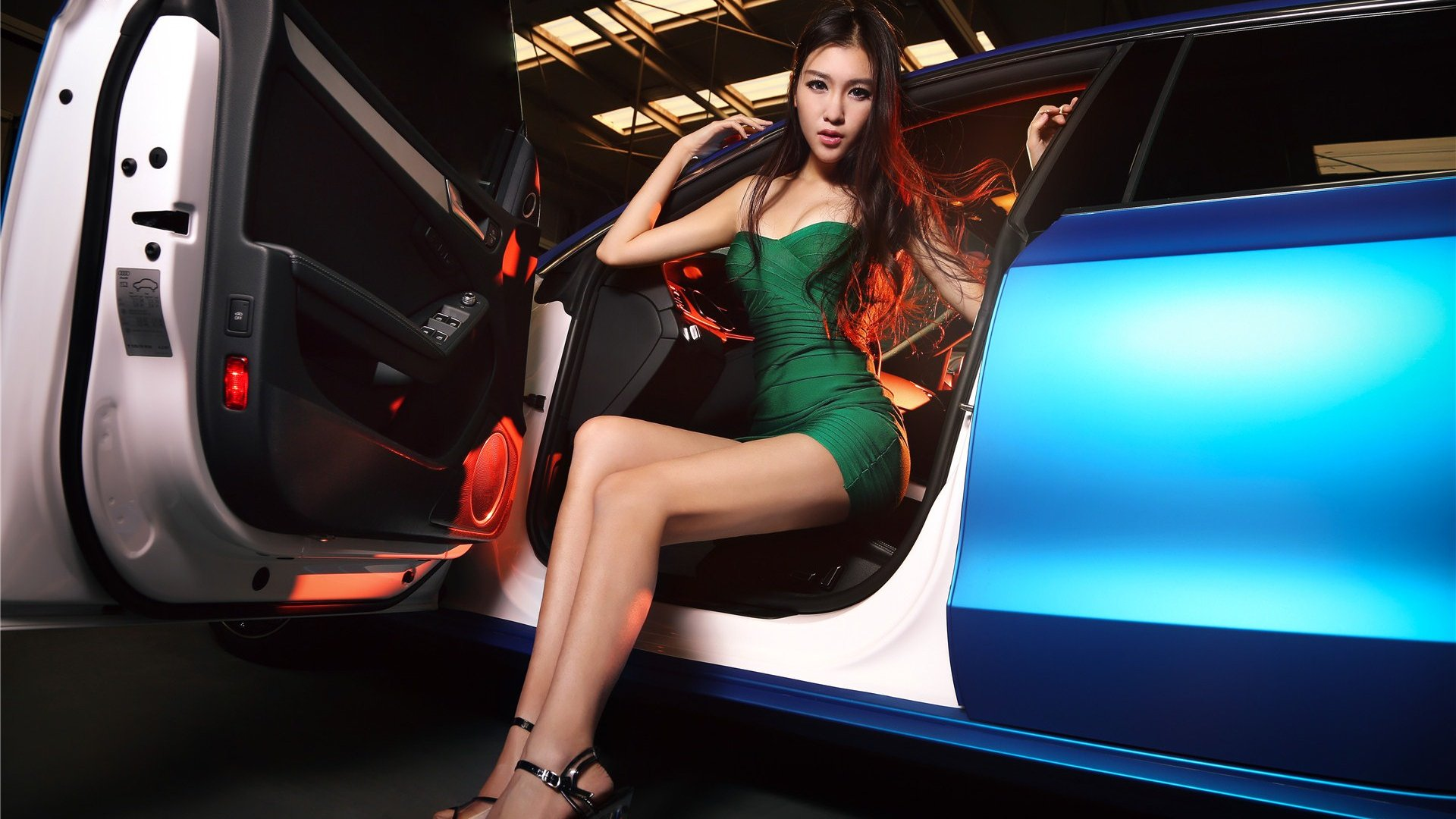 Beautiful Korean Girl Wallpaper Audi Model Sexy Car Asian Girl
