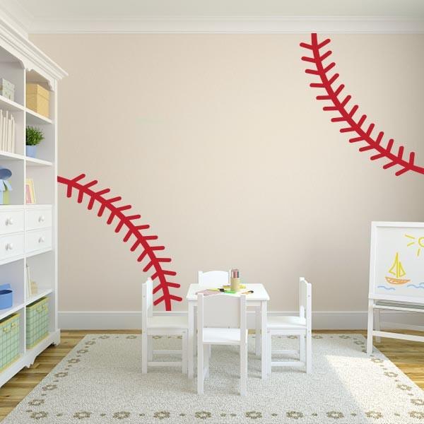 80+ Baseball Wall Stitch Decal