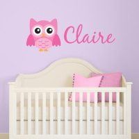 Personalized Girl Owl Wall Decal   Wall Decal World