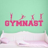 Gymnastics Decal | Gymnastics Wall Sticker | Wall Decal World