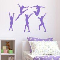 Gymnast Wall Decal - Set of 5 | Wall Decal World