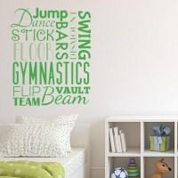 Gymnast Word Blurb Wall Decal | Wall Decal World