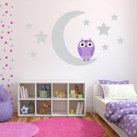 Purple Owl Wall Decals   Owl Wall Stickers for Nursery