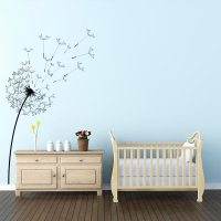 Blowing Dandelion Wall Decal | Dandelion Decal Wall Art