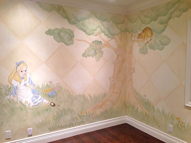 Girls Wallpaper Ideas Tree Wall Murals 50 Hand Painted Tree Wall Mural