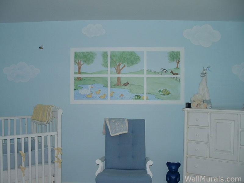 Baby Girl Bedroom Wallpaper Baby Room Wall Murals Nursery Wall Murals For Baby Boys