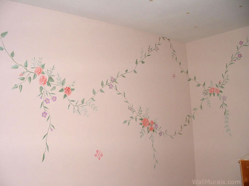 Thinking Girl Wallpaper Girls Room Wall Murals Examples Of Wall Murals For Girls